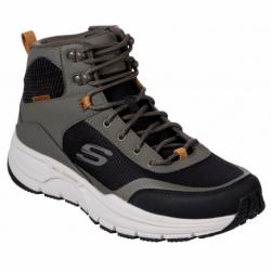 Pánská rekreační obuv SKECHERS-Escape Plan 2.0 Woodrock olive black (EX)