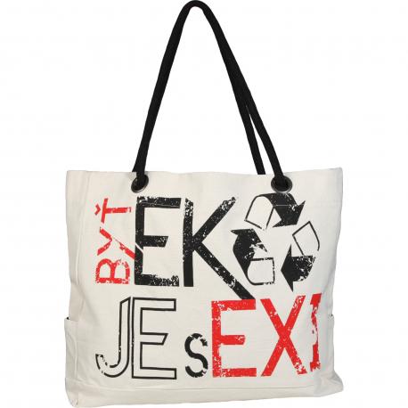 Taška cez rameno EXISPORT-BIG EKO BAG - Látková EKO taška.
