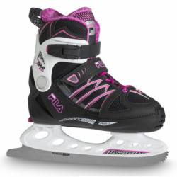 Juniorské lední brusle FILA SKATES-X-ONE ICE G BLK / WHITE / MAGENTA