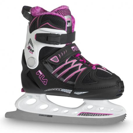Juniorské ľadové korčule FILA SKATES-X-ONE ICE G BLK/WHITE/MAGENTA