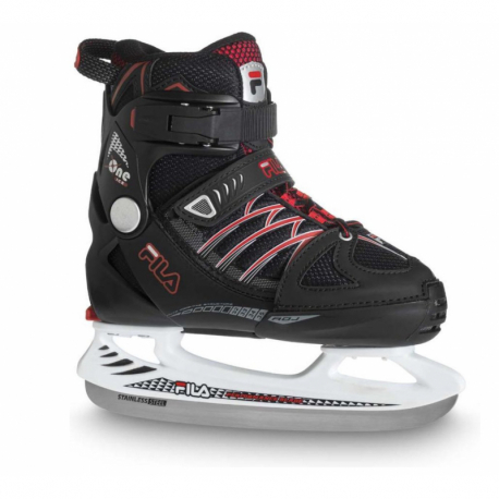 Juniorské lední brusle FILA SKATES-X-ONE ICE BLACK RED