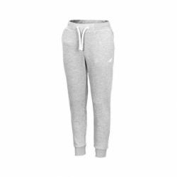 Dievčenské teplákové nohavice 4F-GIRLS TROUSERS-HJZ20-JSPDD001-25M-GREY MELANGE