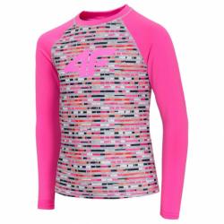 Dívčí termo triko s dlouhým rukávem 4F-GIRLS UNDERWEAR-HJZ20-JBIDD001-90S-MULTICOLOR