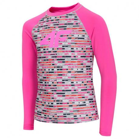 Dievčenské termo tričko s dlhým rukávom 4F-GIRLS UNDERWEAR-HJZ20-JBIDD001-90S-MULTICOLOUR