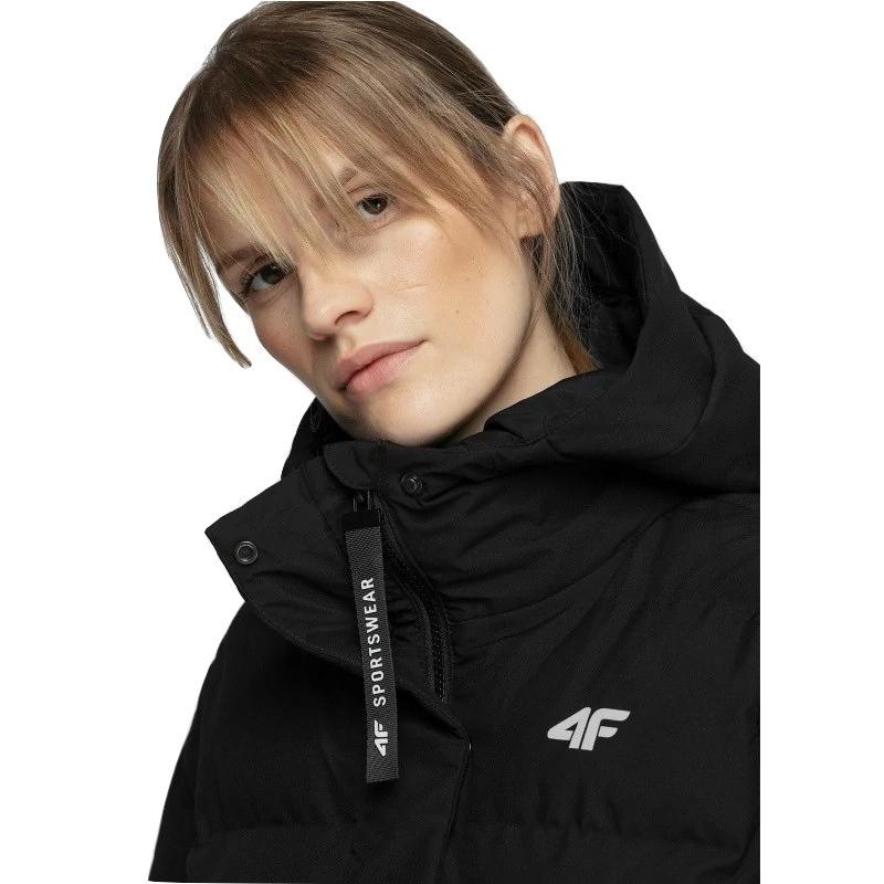 Dámska bunda 4F-WOMENS JACKET-H4Z20-KUDP009-20S-DEEP BLACK -