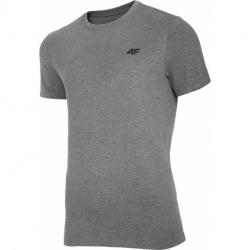 Pánské triko s krátkým rukávem 4F-MENS T-SHIRT-NOSH4-TSM003-24M-MIDDLE GREY MELANGE