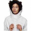 Dámska mikina s kapucňou 4F-WOMENS SWEATSHIRT-NOSH4-BLD002-10M-WHITE MELANGE -