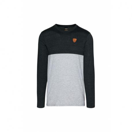 Pánske tričko s dlhým rukávom SAM73-Simon-401-Grey