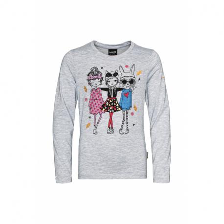 Dievčenské tričko s dlhým rukávom SAM73-Camilla-401-Grey