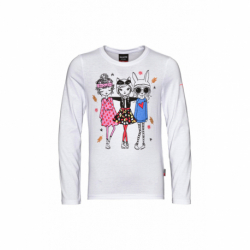 Dívčí triko s dlouhým rukávem SAM73-Camilla-000-White