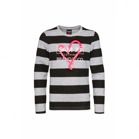 Dievčenské tričko s dlhým rukávom SAM73-Hope-401-Grey