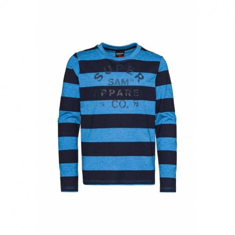 Chlapčenské tričko s dlhým rukávom SAM73-Ben-220-Blue