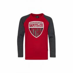 Chlapecké triko s dlouhým rukávem SAM73-Blake-135-Red