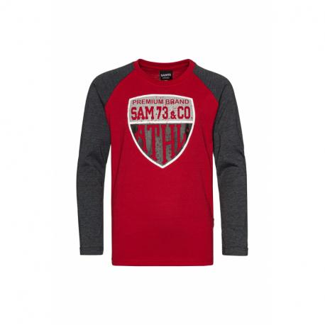 Chlapčenské tričko s dlhým rukávom SAM73-Blake-135-Red