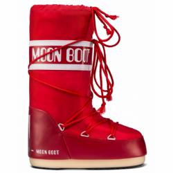 Dámska zimná obuv vysoká MOON BOOT-MBNYLON red