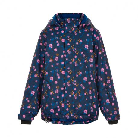 Dívčí lyžařská bunda COLOR KIDS-Ski jacket AOP, AF 10.000-Dress Blues