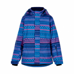 Dievčenská lyžiarska bunda COLOR KIDS-Ski jacket AOP, AF 10.000-Galaxy blue