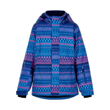 Dívčí lyžařská bunda COLOR KIDS-Ski jacket AOP, AF 10.000-Galaxy blue