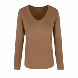 Dámske tričko s dlhým rukávom VOLCANO-L-DANIELA-501-BEIGE