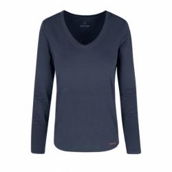 Dámske tričko s dlhým rukávom VOLCANO-L-DANIELA-600-NAVY