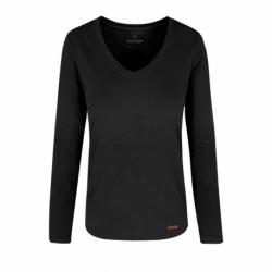 Dámske tričko s dlhým rukávom VOLCANO-L-DANIELA-700-BLACK
