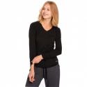 Dámske tričko s dlhým rukávom VOLCANO-L-DANIELA-700-BLACK -
