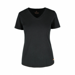Dámske tričko s krátkym rukávom V-golier VOLCANO-T-MORILEE-700-BLACK