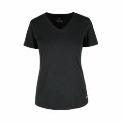 Dámske tričko s krátkym rukávom VOLCANO-T-MORILEE-700-BLACK