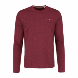 Pánské triko s dlouhým rukávem VOLCANO-L-CALS-400M-RED MEL