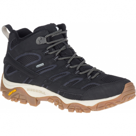 Pánska turistická obuv stredná MERRELL-Moab 2 Mid GTX black/gum