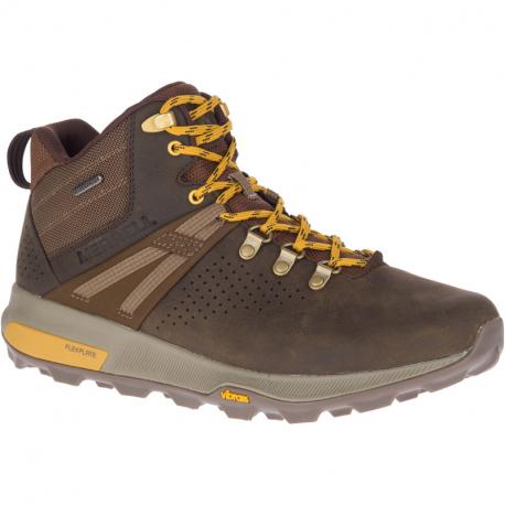 Pánska turistická obuv stredná MERRELL-Zion Peak Mid WTPF seal brown (EX)