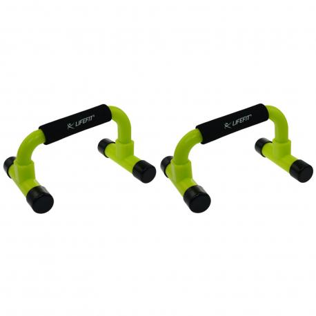 Fitness ručky na kliky LIFEFIT-uchopit NA KLIKY, PVC, sv.zelená TRL