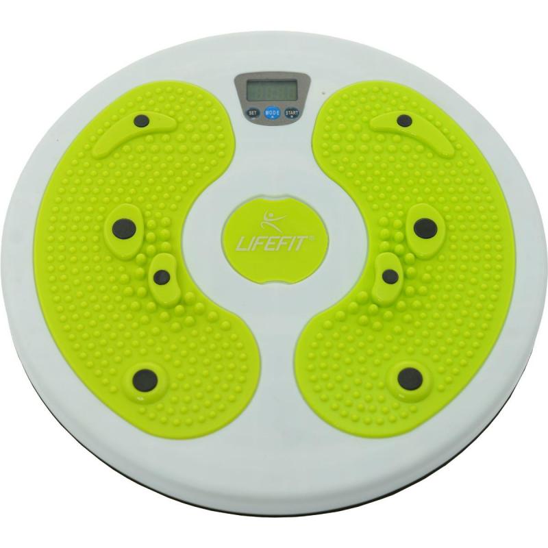 Fitness rotana LIFEFIT-ROTANACOMPUTER,28x3,3cm,sv.zel TRL - Rotačný disk LIFEFIT ROTANA COMPUTER 28cm pre zoštíhlenie postavy doplnený o unikátny LCD displej s počítadlom pohybov.