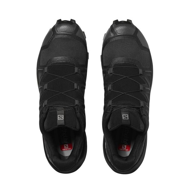 Pánska trailová obuv SALOMON-Speedcross 5 Wide black/black/phantom (EX) -