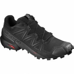 Pánska trailová obuv SALOMON-Speedcross 5 Wide black/black/phantom (EX)
