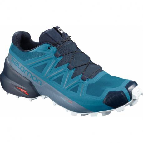 Pánska trailová obuv SALOMON-Speedcross 5 fjord blue/navy blaze (EX)