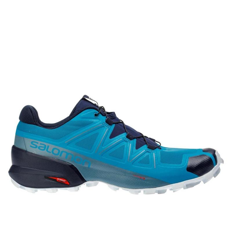 Pánska trailová obuv SALOMON-Speedcross 5 fjord blue/navy blaze (EX) -