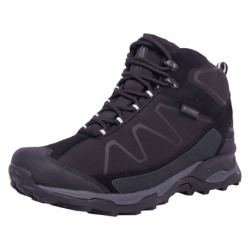 Pánská turistická obuv střední ALPINE CROWN-Natan black / dark grey