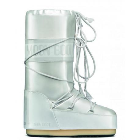 Dámske zimné topánky vysoké MOON BOOT-Vinil Met white