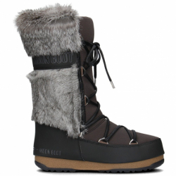 Dámske zimné topánky vysoké MOON BOOT-Monaco TE black/mud