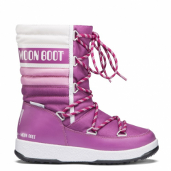 Detské zimné topánky vysoké MOON BOOT-We Quilted JR orchid/pink/white