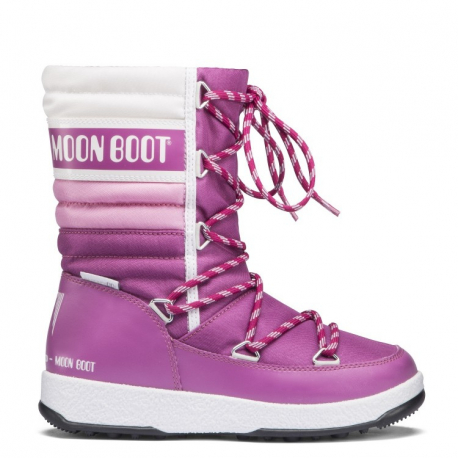 Detské zimné topánky vysoké MOON BOOT-We Quilted JR orchid/pink/white