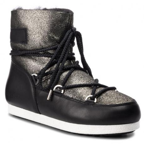 Dámské zimní boty nízké MOON BOOT-Far Side Low SH Stardust black / platinum