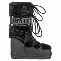Dámske zimné topánky vysoké MOON BOOT-Classic Faux Fur black