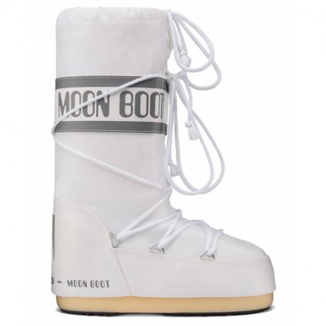 Detské zimné topánky vysoké MOON BOOT-Nylon white