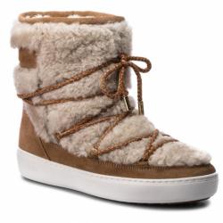 Dámske zimné topánky členkové MOON BOOT-Pulse Mid Wool sand/off white