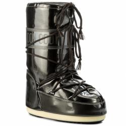 Dámské zimní boty vysoké MOON BOOT-Vinil Met black