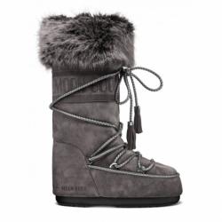 Dámske zimné topánky vysoké MOON BOOT-Velvet anthracite