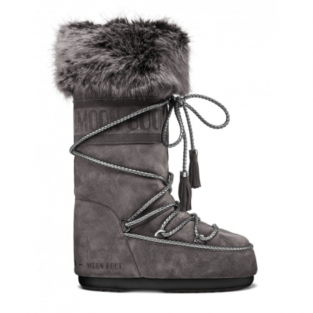 Dámské zimní boty vysoké MOON BOOT-Velvet anthracite