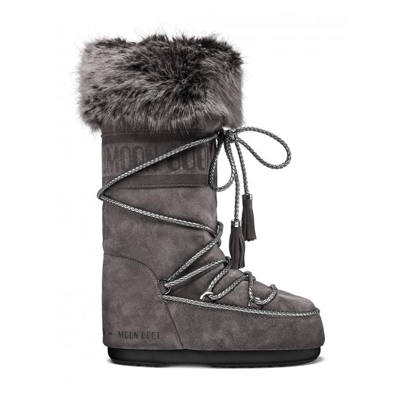 Dámské zimní boty vysoké MOON BOOT-Velvet anthracite 35/38 Černá